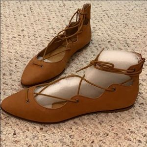 NWT Lucky Brand Lace Up Flats
